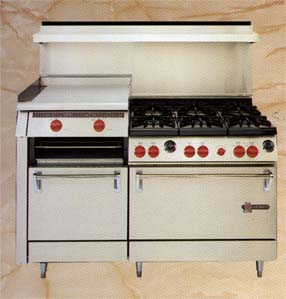"Wolf 59 Range Six Burners & 22"" Manual Raised Griddle"