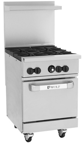 stove 24 inch. wolf challenger xl 24 inch four burner commercial range stove