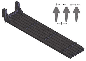 Standard Cast Straight Grate for ACB Char Broiler