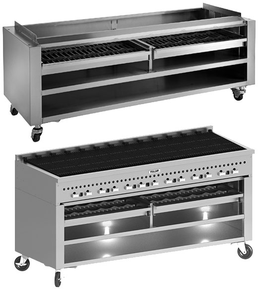 Smoker Wood Assist Base for SCB series Wolf Charbroilers