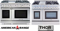 American and Thor Professional Residential Ranges