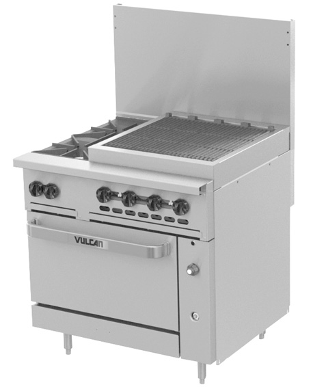 C36 Challenger XL Range with 24 inch Charbroiler